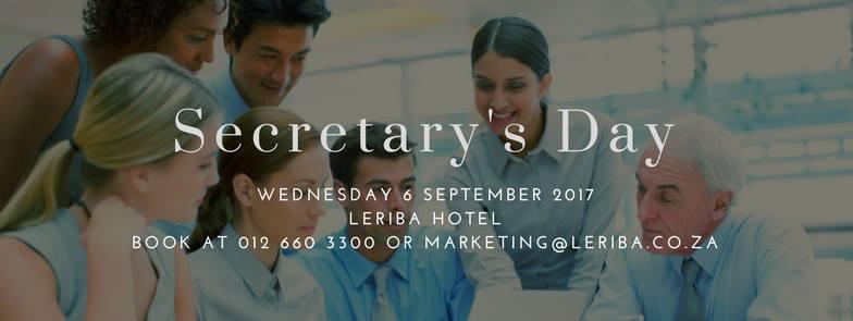 Secretary's Day @ Leriba Hotel & Spa - Centurion