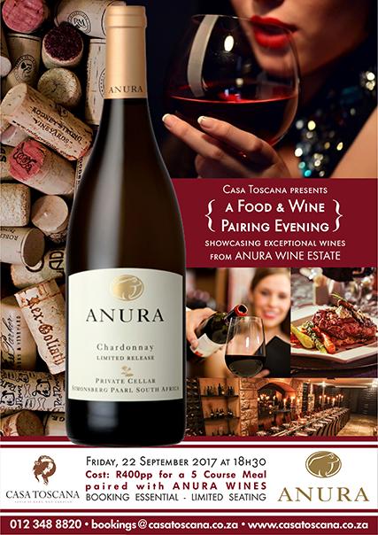 Anura Food & Wine Pairing 2017 - Casa Toscana