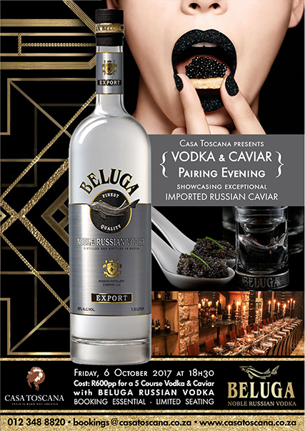 Beluga Russian Vodka & Caviar Pairing Evening 2017 - Casa Toscana