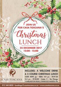Christmas Lunch 2017 @ Rubica Venue - Casa Toscana