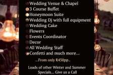 De Haven Oost - Wedding Packages 2015 - Rayton