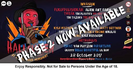 Halloween 2017 @ Voortrekker Monument Amphi Hall - Pretoria