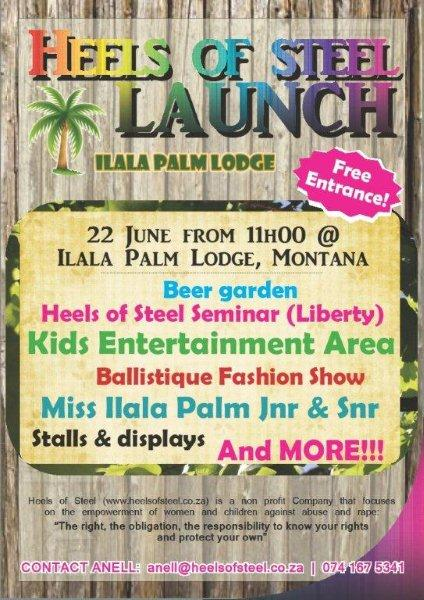 Heels of Steel Launch - DAY - Ilala Palm Lodge