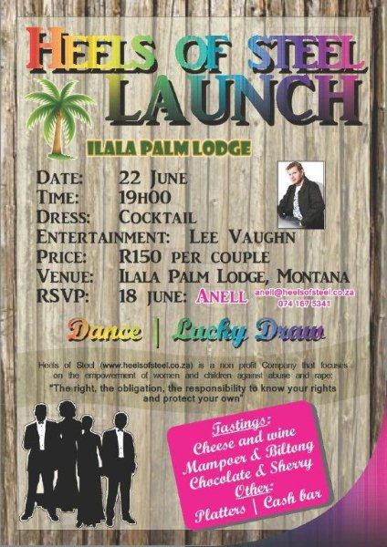 Heels of Steel Launch - EVENING - Ilala Palm Lodge