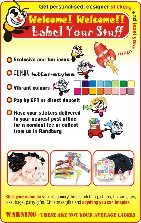 Kidstickers - Randburg - School Labels