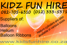 Kidz Fun Hire Party Products - Queenswood
