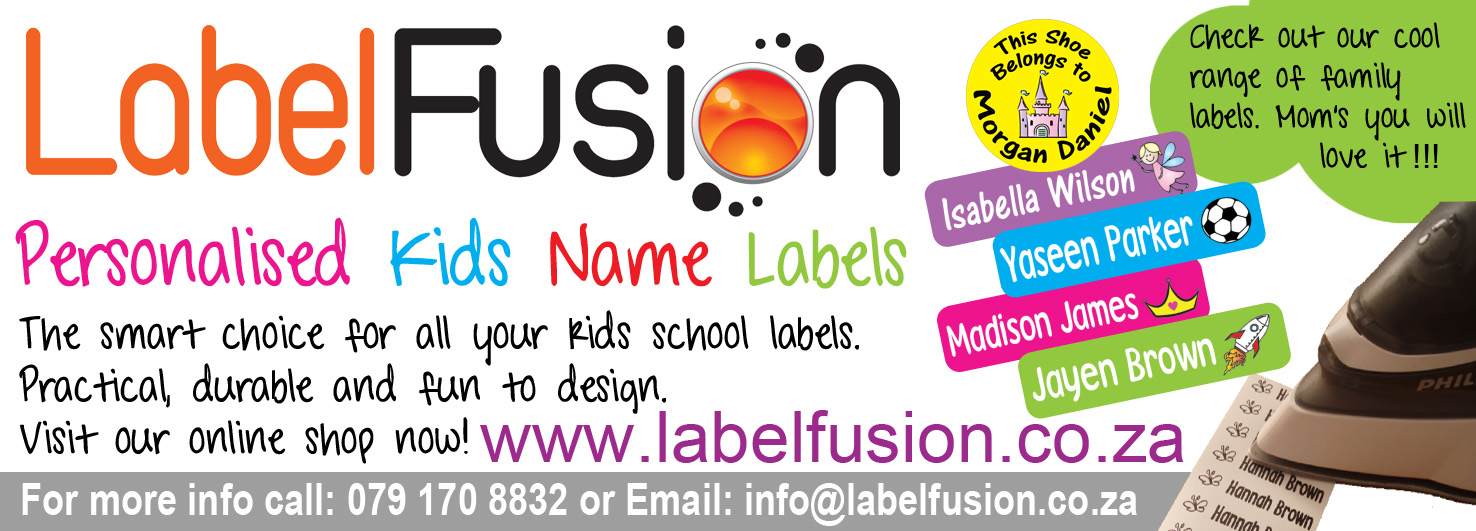 Label Fusion - Personalised School Labels - Cape Town