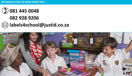 Labels4School - South Africa - School Labels