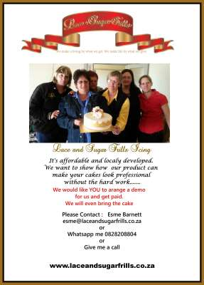 Lace and Sugar Frills Icing - Demonstrations - Doornpoort