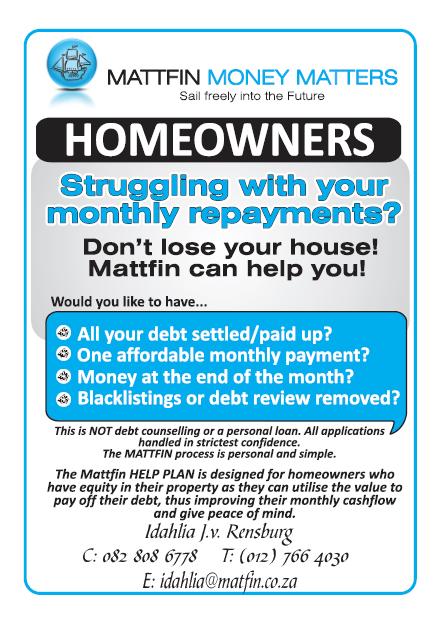 Mattfin - Home Owner Debt Consolidation - Centurion