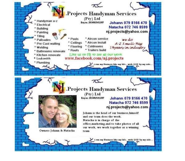 NJ Projects Handyman Services - Pretoria