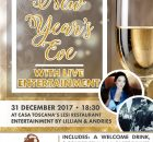 New Years Eve Dinner 2017 @ LeSi Restaurant - Casa Toscana