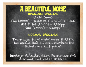 Rockwood Theatre Opening Special - Pretoria East