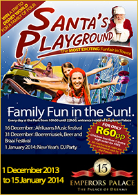 Santas Playground 2013 - Emperors Palace - Christmas Entertainment