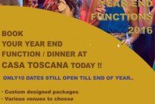 Year End Functions 2016 - Casa Toscana Lodge - Pretoria