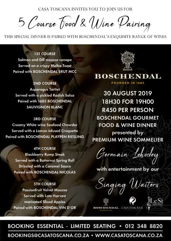 Boschendal Food Wine Pairing