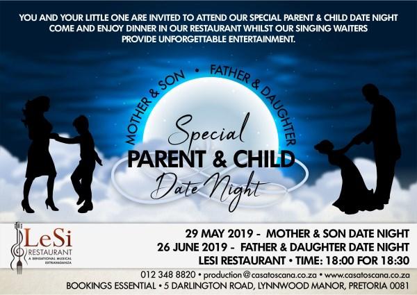 Casa Toscana 2019 Special Promotions - Pretoria - Parent Child Date Night