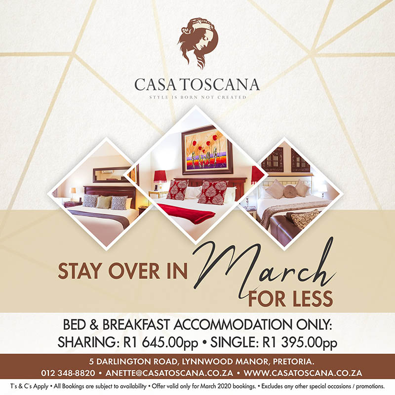 Casa Toscana Summer Promotions