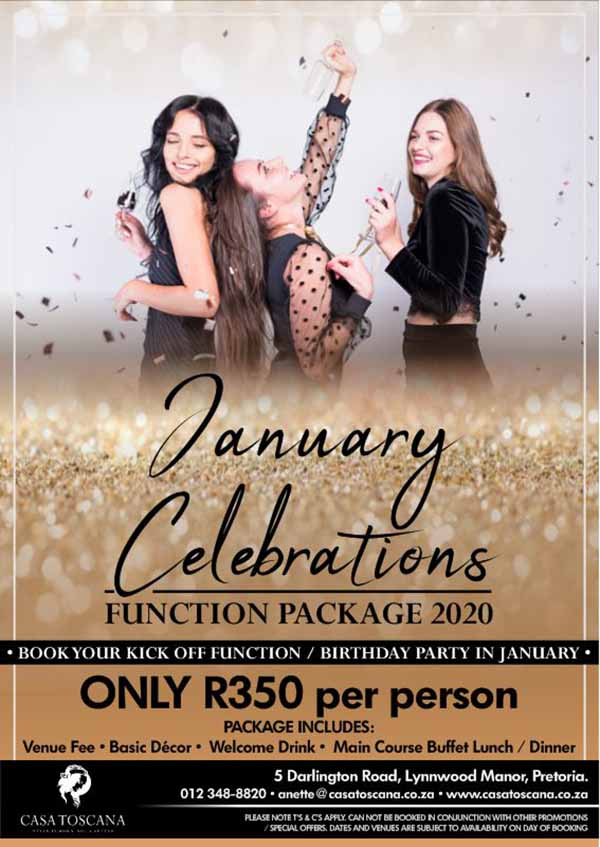 January Celebrations Function Package