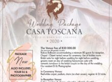 Wedding-Package-2020-Casa-Toscana-Lodge-Pretoria